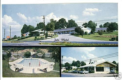 KNOXVILLE TN TENNESSEE  TATE MOTEL BROCK   POSTCARD