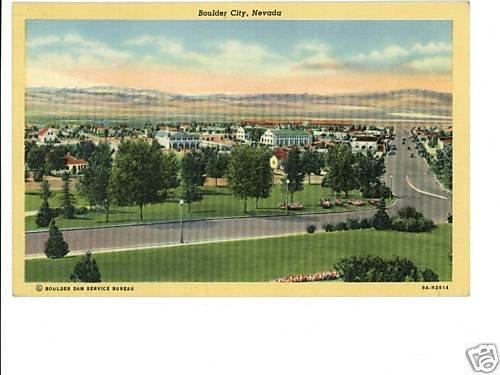 Boulder City NV Nevada  Postcard 1942