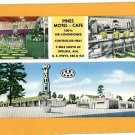 OPELIKA ALABAMA PINES MOTEL CAFE VINTAGE POSTCARD