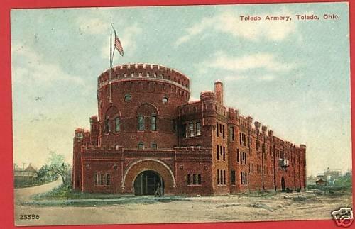 TOLEDO OHIO OH ARMORY 1913  POSTCARD