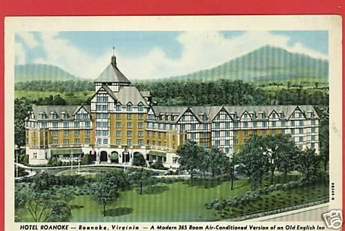 ROANOKE VIRGINIA VA HOTEL ROANOKE 1948 POSTCARD