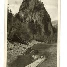 CASTLE ROCK COLUMBIA RIVER OREGON ? VINTAGE POSTCARD