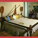 KAUAI HI HAWAII COCO PALMS HOTEL OUTRIGGER BED POSTCARD