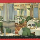 CHEYENNE WY PLAINS HOTEL WYOMING ROOM  POSTCARD