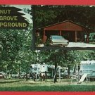 TIFFIN OHIO OH WALNUT GROVE CAMPGROUND CARS  POSTCARD