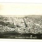 RPPC San Francisco CA  Twin Peaks 1937 RP  POSTCARD