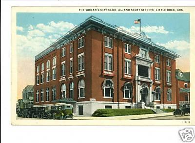 LITTLE ROCK ARKANSAS AR WOMAN'S CITY CLUB 1945 POSTCARD