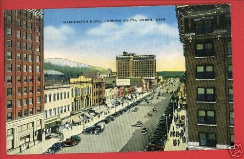 OGDEN UT UTAH WASHINGTON BLVD 1952 POSTCARD