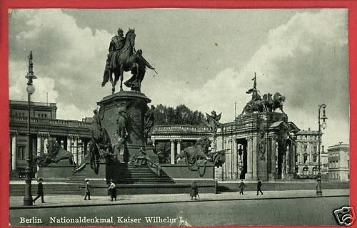 BERLIN GERMANY KAISER WILHELM I MONUMENT  POSTCARD