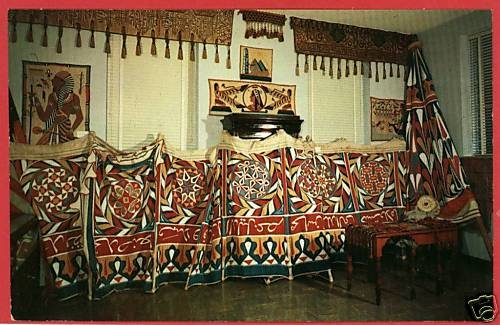 BERRYVILLE ARKANSAS AR SAUNDERS MUSEUM TENT  POSTCARD