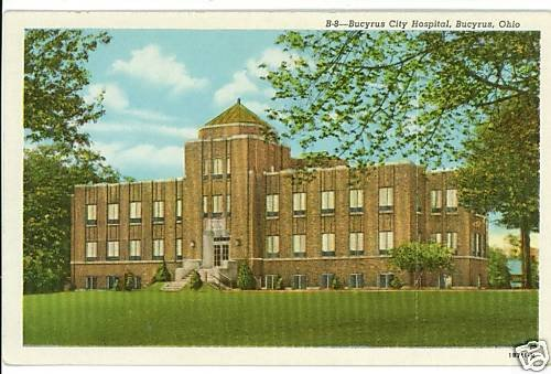 BUCYRUS OH OHIO CITY HOSPITAL WELSH NEWS  POSTCARD