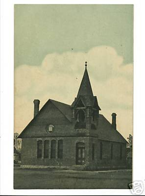 TRENTON NEBRASKA NE CONGREGATIONAL CHURCH  POSTCARD