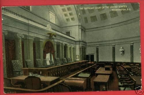 SUPREME COURT WASHINGTON DC INTERIOR  POSTCARD