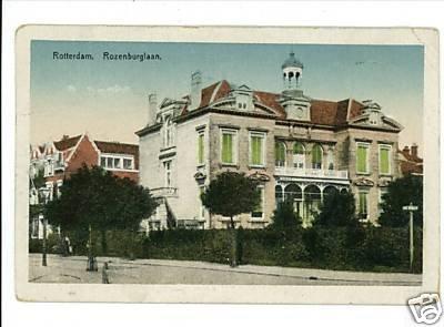 ROTTERDAM 1922 NEDERLAND POSTAGE STAMP ROZENBURGLAAN