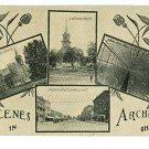 ARCHBOLD OHIO OH SCENES IN  VINTAGE POSTCARD