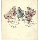 LONESOME DUCK WITH CHICKS SIRRET JES BLOW  POSTCARD