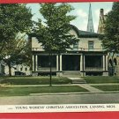 LANSING MICHIGAN MI HIGH YWCA 1909  POSTCARD