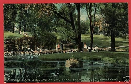 COLUMBUS OHIO OH MIRROR LAKE & SPRING OSU 1913 POSTCARD