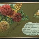 NOVEMBER BIRTH BIRTHDAY TOPAZ 1908  POSTCARD