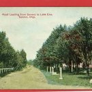 GENEVA OHIO OH DIRT ROAD TO LAKE ERIE  POSTCARD