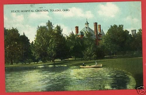 TOLEDO OHIO OH STATE HOSPITAL GROUNDS 1909 POSTCARD