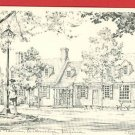 WILLIAMSBURG VIRGINIA CHOWNING'S TAVERN OVERLY POSTCARD