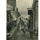 RPPC CLOVELLY UK ENGLAND HIGH STREET BURRO RP POSTCARD