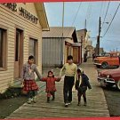 NOME ALASKA AK MAIN ST ESKIMO CHILDREN CARS  POSTCARD