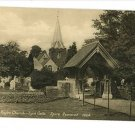 STOKE POGES CHURCH - LYCH GATE VINTAGE POSTCARD UK