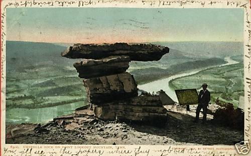 LOOKOUT MOUNTAIN TENNESSEE UMBRELLA ROCK DP  POSTCARD