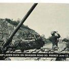 US ARMY DUCKS INVADE FRANCE JUNE  1944 VINTAGE POSTCARD