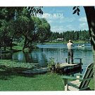 LAKE CITY MICHIGAN DOCK BOAT  POSTCARD
