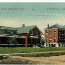 NEWTON KS KANSAS BETHEL HOME & HOSPITAL 1910   POSTCARD