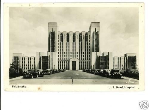 RPPC US NAVAL HOSPITAL PHILADELPHIA PENNSYLVANIA 1939