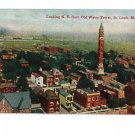 St Louis MO Water Tower-Bird's eye  Vintage Postcard
