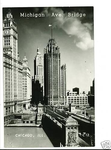 RPPC CHICAGO ILLINOIS MICHIGAN AVENUE BRIDGE