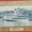 STEAMER GREYHOUND TOLEDO OHIO STEAMSHIP  1911 POSTCARD