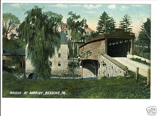 READING PA Pennsylvania COVERED BRIDGE BERKLEY POSTCARD