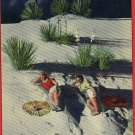 WHITE SANDS NEW MEXICO  NM WOMEN IN MOONLIGHT POSTCARD