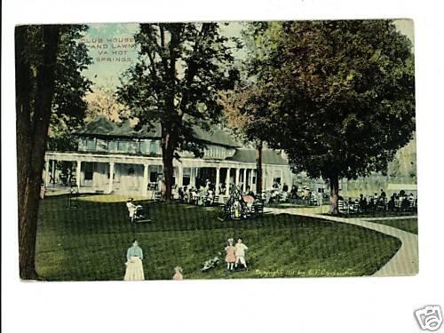 Hot Springs VA Virginia  Club House 1913  Postcard
