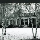 RPPC HOUSE IN SNOW A CUMMINGS PHOTO RP POSTCARD