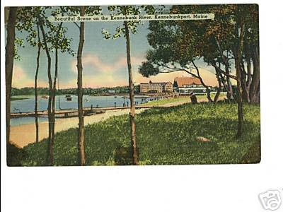 Kennebunkport Maine Me River Beach Postcard