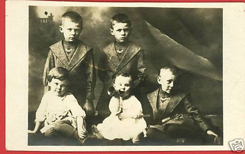 RPPC HANOVER ILLINOIS IL KILPATRICK FAMILY BABY RATTLE