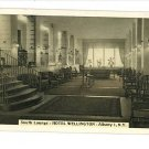 ALBANY NEW YORK NY  HOTEL WELLINGTON LOUNGE POSTCARD