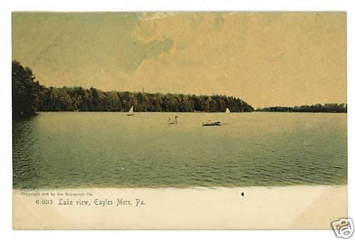 EAGLES MERE PENNSYLVANIA PA LAKE VIEW 1905 POSTCARD