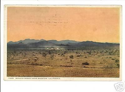 BARSTOW CA MOHAVE DESERT DETROIT PUBLISHING 1933 PSTCRD