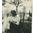 RPPC BABY MOTHER  NECKLACE  IRON FENCE  BUGGY  SWING
