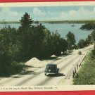 NORTH BAY ONTARIO CANADA HIGHWAY 11 OLD CARS   POSTCARD