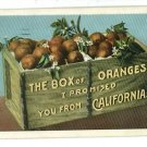 CALIFORNIA BOX WOOD CRATE OF ORANGES 1930  POSTCARD