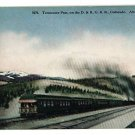 D & RG RAILROAD TRAIN TENNESSEE PASS COLORADO POSTCARD